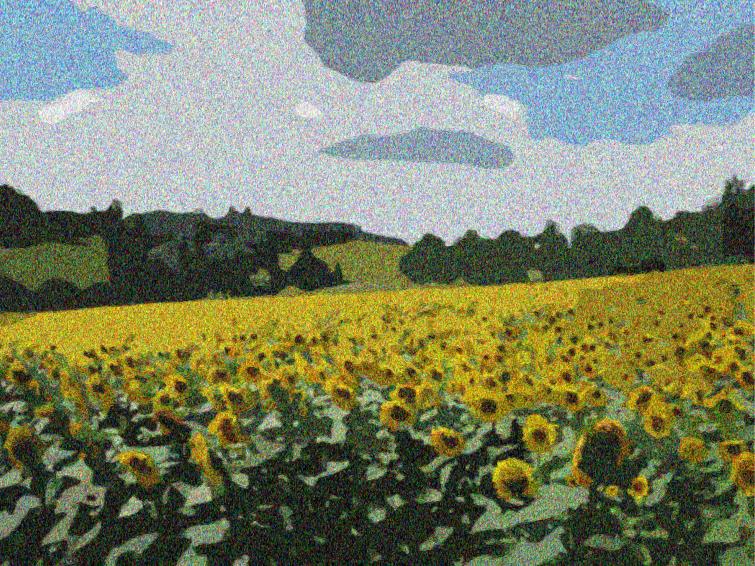 Zonnebloemen à la Van Gogh
